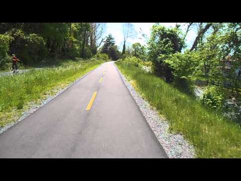 riding washington & old dominion rail trail into Leesburg