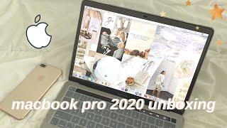 "13"" macbook pro 2020 unboxing + customization ✨"