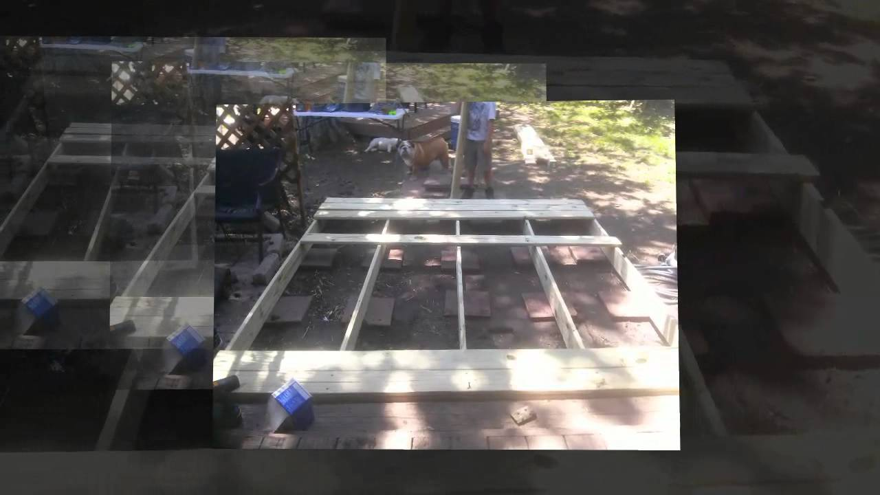 How To Build A Deck 8x8 Fast And Easy Youtube