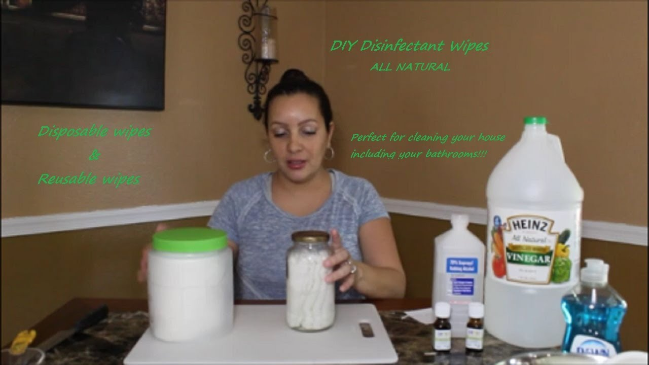 Diy Natural Disinfectant Wipes For Cleaning Chemical Free Youtube