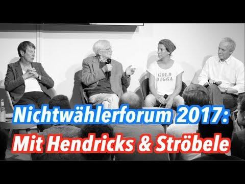 Unser Nichtwählerforum 2017: Mit Umweltministerin Hendricks, Ströbele & Hans Jessen