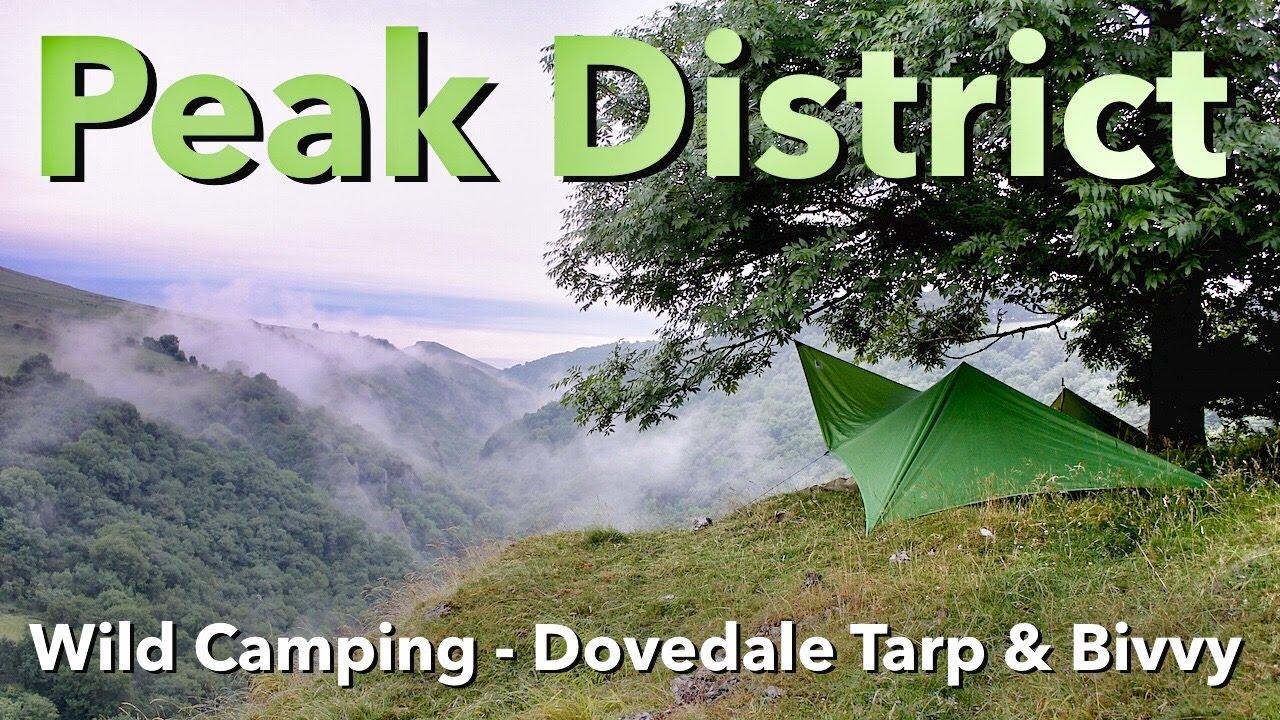 Peak District - Wild Camping - Dovedale Tarp & Bivvy - YouTube