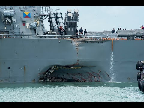 CNO Orders Operational Pause & Review of All US Navy Fleets After USS John McCain Collision