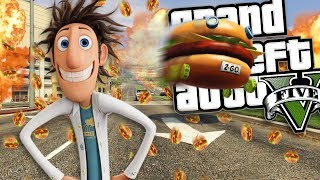 CLOUDY WITH A CHANCE OF MEATBALLS STOLEN BURGER CAR MOD (GTA 5 PC Mods Gameplay)