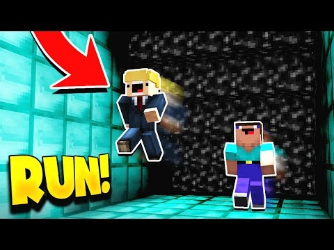Minecraft RUNNING FROM BLACK LAVA! (PARKOUR FROM LAVA!) with PrestonPlayz