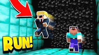 Minecraft RUNNING FROM BLACK LAVA! (PARKOUR FROM LAVA!) with PrestonPlayz