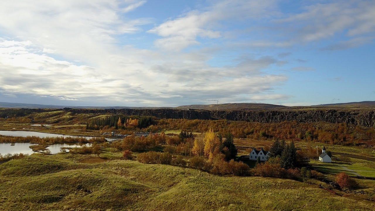 Pingvellir (Þingvellir) National Park - Iceland Drone 4K - Oct 2017 on