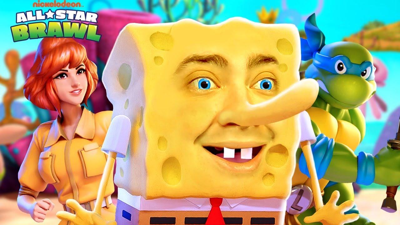 alanzoka jogando Nickelodeon All-Star Brawl com os amigos