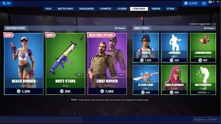 *NEW*Beach Bomber Skin & Brite Stars Wrap ! Fortnite Item Shop July 7, 2019