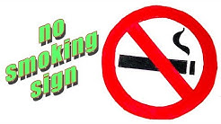 How to Draw No Smoking Sign