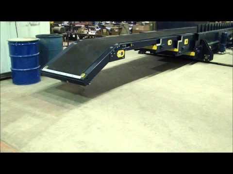 Custom 3 Stage Extendable Belt Conveyor With Traversing Option