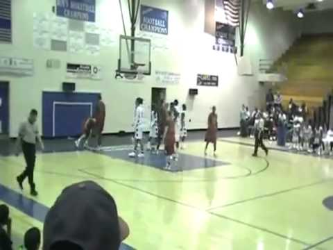 Ref gets tossed up by basketball player