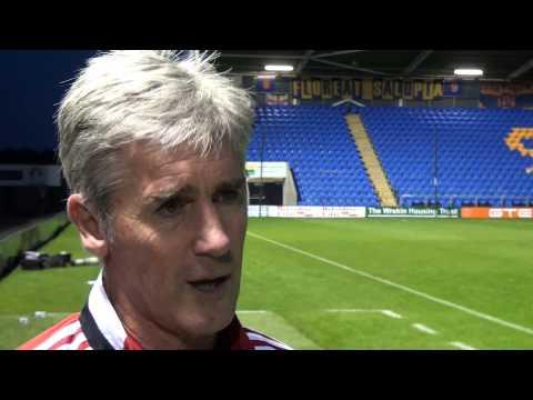 Alan Irvine is interviewed following Albion's 2-1 pre-season win at Shrewsbury Town