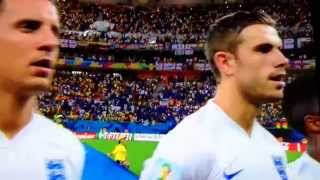 "England Anthem ""God Save the Queen"" at FIFA World Cup ENG VS. ITA 6/14/2014"