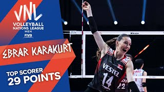 Ebrar Karakurt on fire, lifts Turkey to second medal in VNL history   Top Scorer   VNL 2021