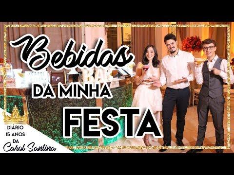 BEBIBAS DA MINHA FESTA DE 15 ANOS - DIÁRIO 15 ANOS - CAROL SANTINA
