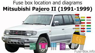 Fuse box location and diagrams: Mitsubishi Pajero II (1991-1999) - YouTubeYouTube