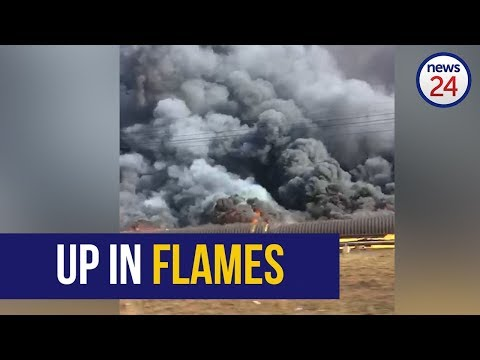 WATCH | Coal Conveyor Belt Goes Up In Flames At Former Gupta-linked Optimum Mine