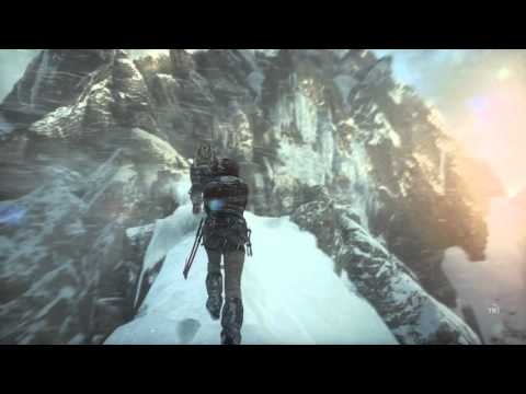 Rise of The Tomb Raider - Mountain Peak: Cutscene: Axe Attac