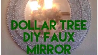 Dollar Tree DIY Mirror Wall Decor Faux Room Decor Creating Elegance For Less With Faithlyn McKenzie