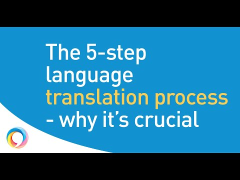The 5-step translation process - it's best practice for a reason!