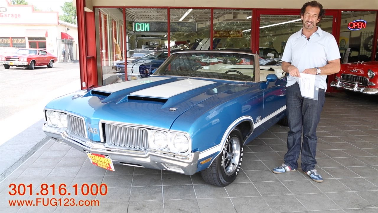 1970 Oldsmobile Cutlass 442 convertible for sale with test drive, and walk  through video