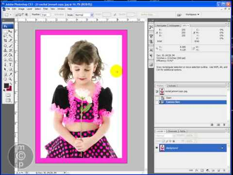 How to Make Simple Borders and Frames in Photoshop - YouTube