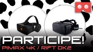 Vakinha - Pimax 4K e Oculus Rift DK2 - Doe e Concorra ao Sorteio