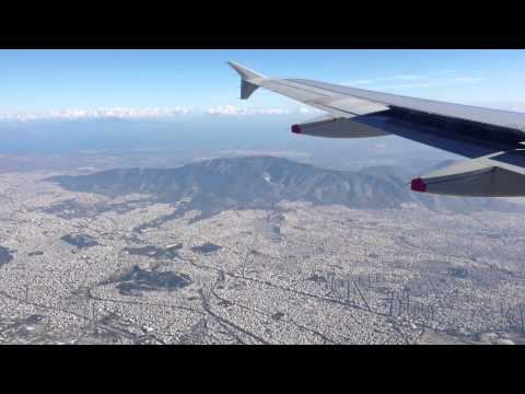 British Airways Flight BA0640 Take Off From Heathrow Landing At  Athens 04/01/13