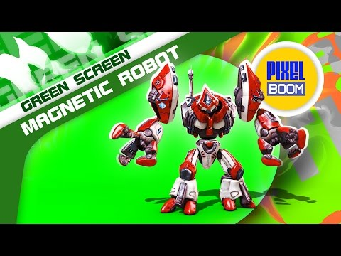 Green Screen Robot Magnetic Components - Footage PixelBoom thumbnail
