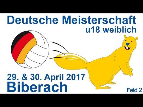 Deutsche Meisterschaft U18w 2017 in Biberach Sonntag Feld 2