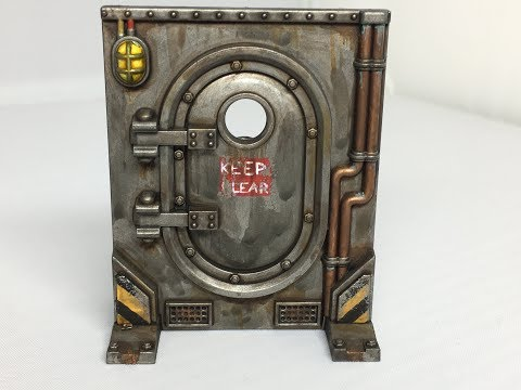 How to: Paint Necromunda Scenery part 2 - Loot Caskets, Doors and Gang Relic