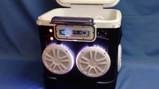 60qt Cooler Stereo / Radio Cooler / Ice Chest Radio W/ Led Speaker Rings Icechestradios.net