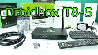 Droidbox T8-S Unboxing & First Look - Dual Boot Android + OpenELEC - 4K Android TV BOX [4K]