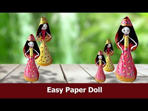 DIY Handmade Paper Doll Craft Idea at Home By  Aloha Crafts