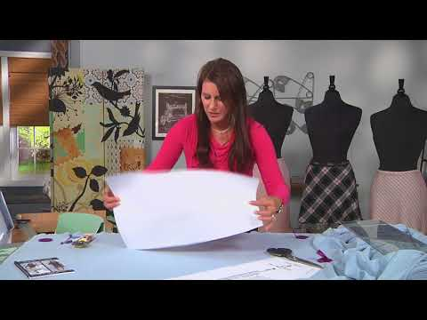 f949a1b13d7fb How to cut a skirt pattern on the bias on It's Sew Easy with Angela Wolf  (1502-3) - YouTube
