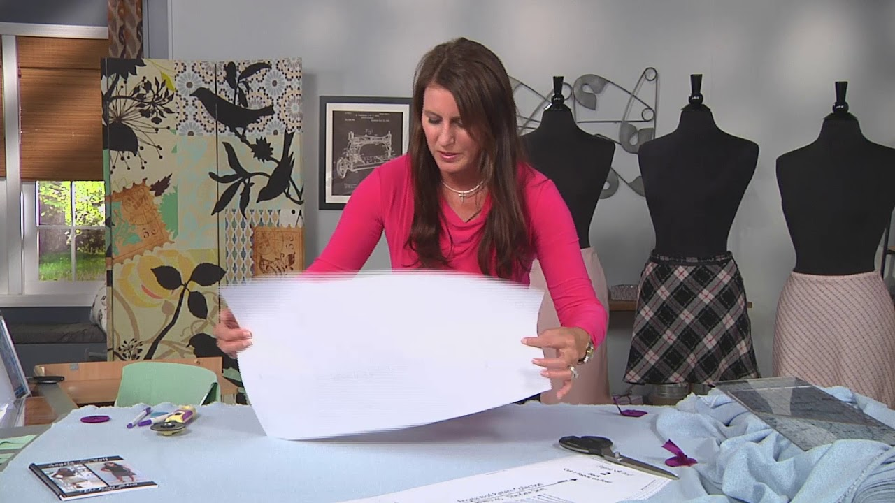 8c59630824764 How to cut a skirt pattern on the bias on It s Sew Easy with Angela Wolf ( 1502-3)