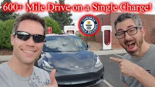 600 Hypermile In A Tesla Model 3! Live video 463 Miles In