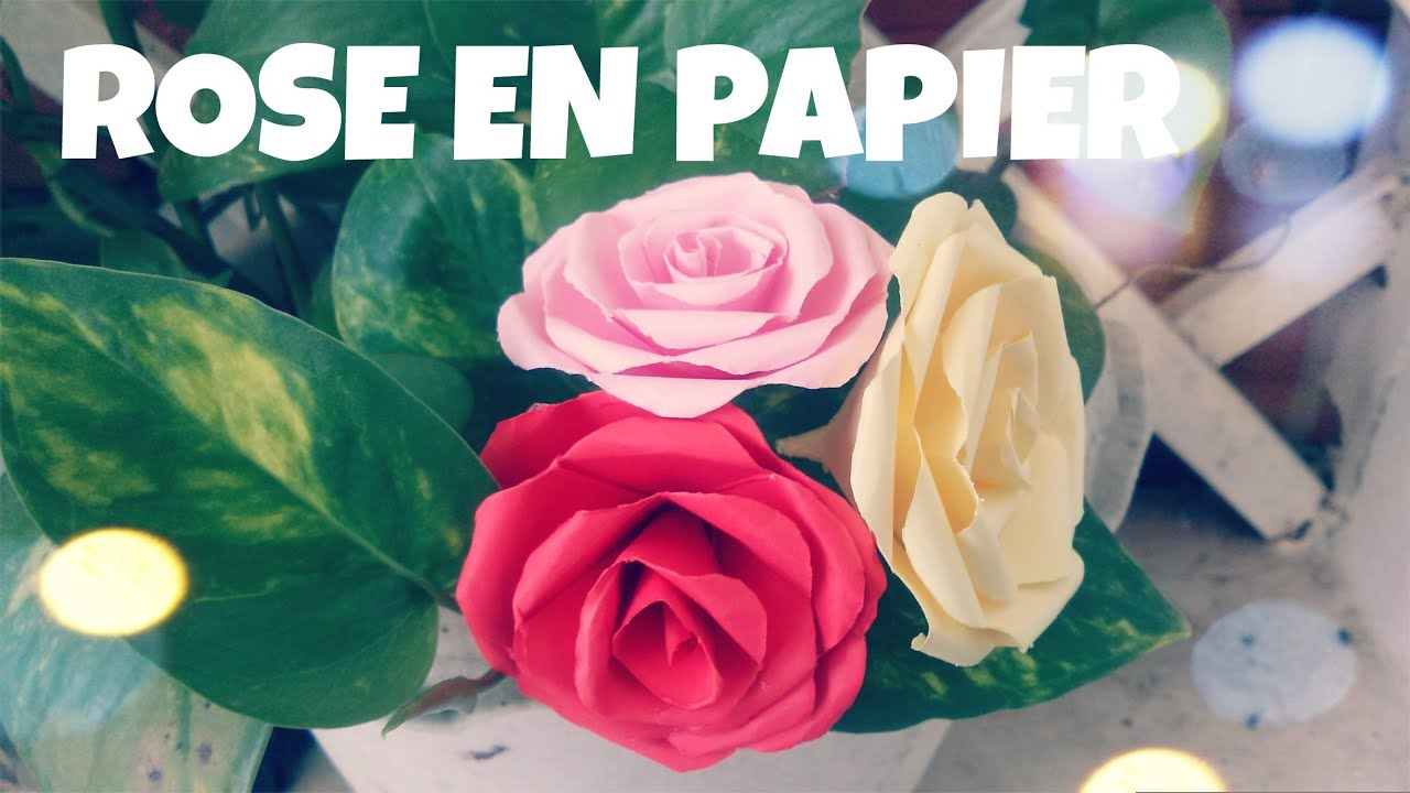 Comment faire une rose en papier tres facile youtube - Comment faire des bricolages ...