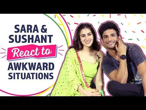 Sara & Sushant  React to Awkward Situations | Kedarnath | Bollywood | Pinkvilla