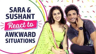 Sara & Sushant  React to Awkward Situations | Kedarnath | Bollywood | Pinkvilla