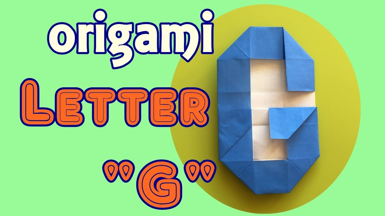 How To Make Paper Letter G