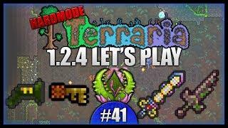 True Excalibur Python VS Plantera Temple Keys  Lets Play Terraria 1.2.4 Episode 41