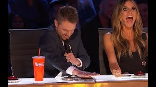 "Litte ""Girl on Fire"" Gets the GOLDEN BUZZER and Starts to Cry..."