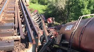 Tren deraiat Carcea