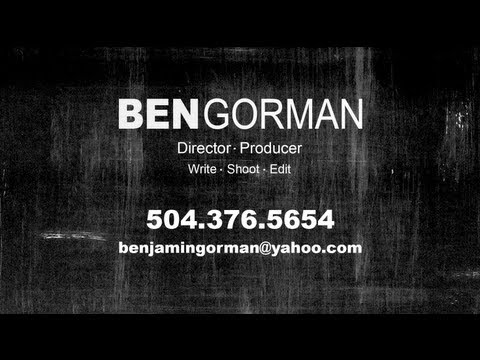 Benjamin E Gorman - DEMO Reel