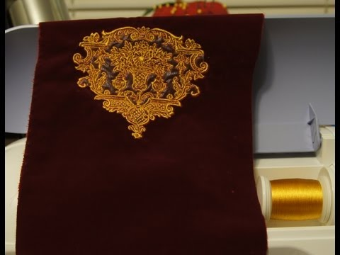 Brother PE-770  How to make a Gold Motif on velvet