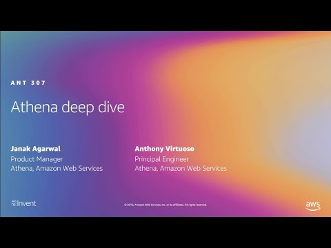 AWS re:Invent 2019: [REPEAT 1] Deep dive into Amazon Athena (ANT307-R1)