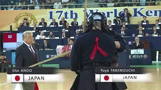 17th World Kendo Championships 5ch (JPN)S.ANDO vs (JPN)Y.TAKENOUCHI
