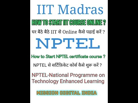 How to Start IITs Online course & NPTEL certificate course